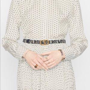 SADDLE BELT Blue Dior Oblique Jacquard, 20 MM